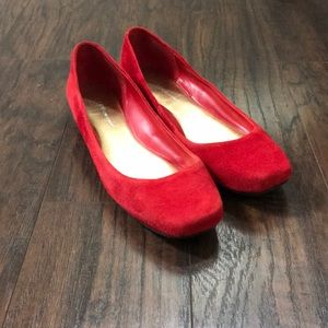 BCBGeneration Shoes - Adorable BCBGeneration Red Suede Flats